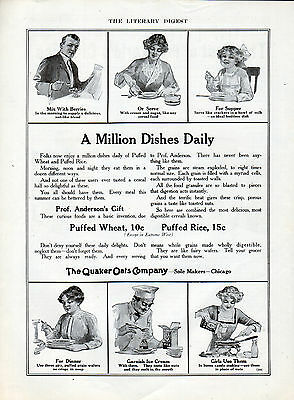 1912 Quaker Oats ad Puffed Wheat & Puffed Rice ad --l-664