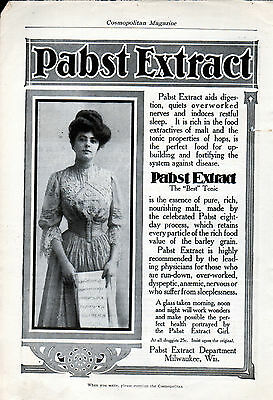 "1904 Pabst Extract ad --""Pabst Extract Girl"" -l-257"