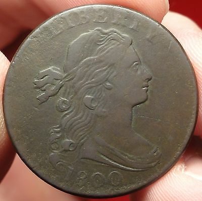 1800 Draped Bust Large Cent Choice Very Fine S-204 1c Variety Rarity 4
