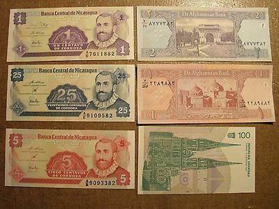 Foreign Money Paper Banknote Collectors Lot #32