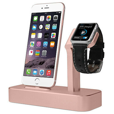 Charging Dock Station Bracket Cradle Stand Holder For i watch iPhone 7 6S Plus
