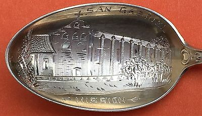 San Gabriel Mission Los Angeles Sterling Silver Souvenir Spoon By Gorham