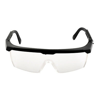 High Quality Safety Eye Protection Clear+Black Goggles Glasses From Dust