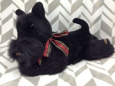 "Rare Dakin 1984 Elegante 21"" Fully Jointed Scotty Puppy Dog Black Terrier Plush"