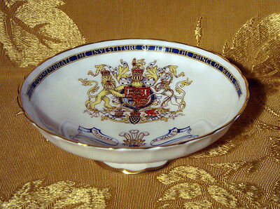 Aynsley Commemorative Footed Bowl Investiture Of Prince Of Wales 1969