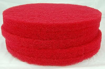 "16"" Red Floor Buffing Pad Hillyard 42216 HIL42216 Box Of Five Pads"