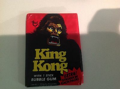 King Kong 1976 unopened wax pack