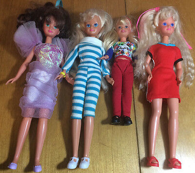 Mixed Lot Of 4 Previously Played With Stacey & Friends Dolls Lot B3