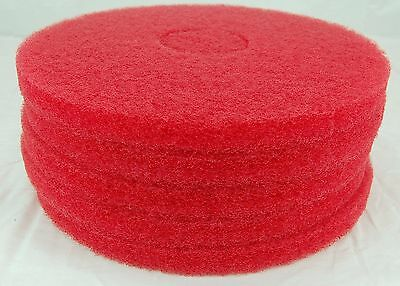 "13"" Red Floor Buffing Pad Hillyard 42213 HIL42213 Box of Five Pads"