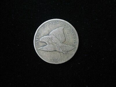 1858 1C Small Letters Flying Eagle Cent (#20-15)