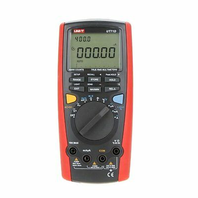 UNI-T UT71D True Rms Dmm Digital Multimeter Intelligent USB Volt Amp Ohm CaB5N9
