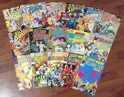 The Silver Surfer Lot Of Marvel Superheroes Comic Books 71-89 + Annuals Warlock