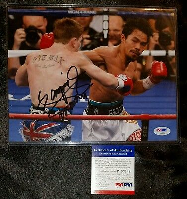 Manny Pacquiao Boxer Signed 8x10 Photo PSA/DNA COA AUTO + TOP LOADER free ship!!