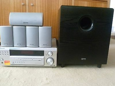 Pioneer Audio/Video Receiver, Surround Sound Speakers and Digitech Sub Woofer