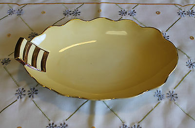 Vintage Carlton Ware Royale Yellow And Gold Serving Dish