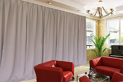 Blockout Curtain 536x230cm PINCH PLEAT 2 panel Blackout High Level Fabric