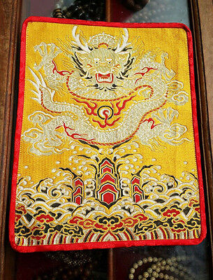 Tibetan Yellow dragon table /shrine /Cover /Altar Cloth Buddhist  Table placemat