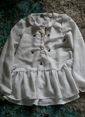 girls white blouse age 11 years