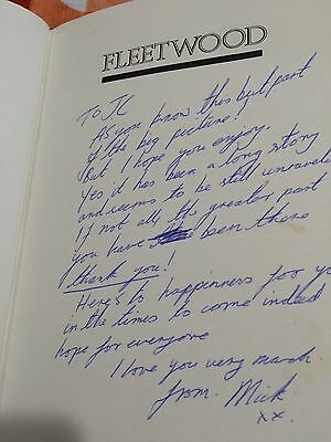 """FLEETWOOD : Fleetwood Mac **Signed by MICK To """"JC"""" (John Courage)** RARE!"""