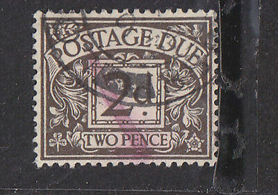 SG D21 2d Postage Due ave used cat £12.00