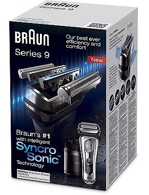 Braun Series 9 9095CC Wet/Dry Foil Electric Shaver with Clean and Renew Charger*
