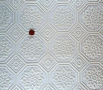 """Dollhouse Ceiling Wallpaper 4"""" Octagon – 2 Large Shts!    DBJ-09 (Discontinued!)"""