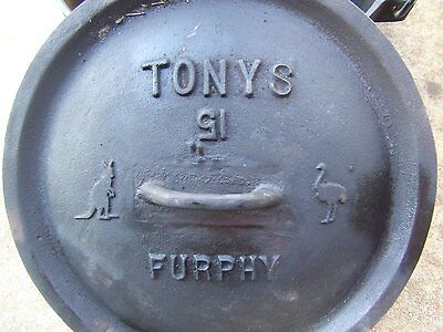 15in furphy camp oven cast iron