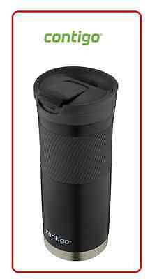 ❤ Contigo Byron SNAPSEAL Travel Mug coffee mug Stainless Steel Flask 591ml Black