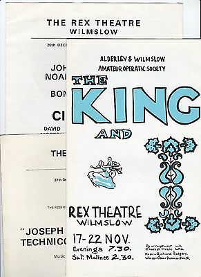 Three programmes from Rex Theatre Wilmslow listed below