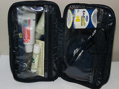 CONTINENTAL AIRLINES Travel Wash Bag Business/First Class Travel Kit Unused