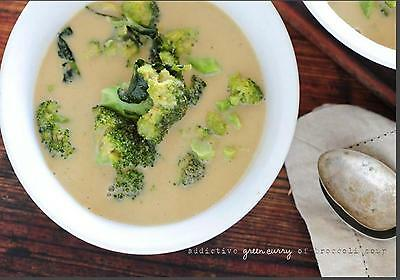 5 ingredient-Green Curry Broccoli Soup quick Recipe w/ Cooking video PDF 1 cent
