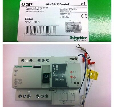 Diferencial Rearmable Marca Schneider Electric 40/4/300 mA Clase A Ref: 18267
