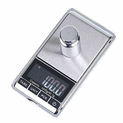 1000g Mini Digital LCD Electronic Weighing Weight Gold Jewellery Pocket Scale UK