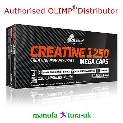 OLIMP Creatine Monohydrate 1250mg Boost Strength & Muscles  120 Mega Caps BOX