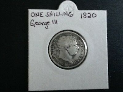 1820 shilling coin George lll