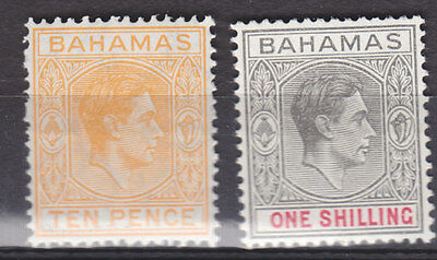 Bahamas 1938 10d and 1/- values m-mint