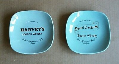 Harvey's and Daniel Crawford's Scotch Whisky old pub ashtrays