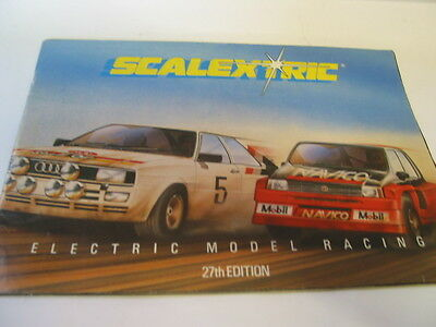 SCALEXTRIC  CATALOGUE 27th  EDITION 1986 very good condition