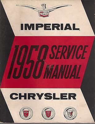 #003 1958 Chrysler Imperial Service Manual #D-16350