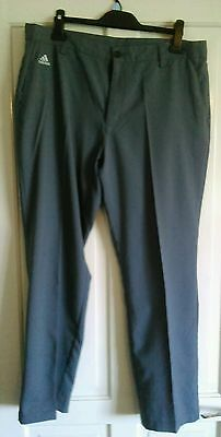 Adidas Climalite Golf Trousers, mens size 36W 30L