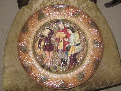 """Beswick - Charger (12.2"""" diameter) - 'AS YOU LIKE IT, THAT WOULD I, WERE I OF..'"""
