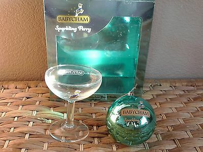 Babycham Sparkling Perry Glass + Bauble Gift Box - Bnib