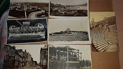 set of 7 vintage British post cards and Maltese