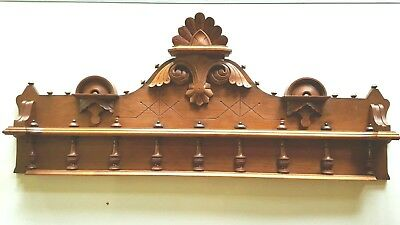 Vintage Header Pediment Entryway Mantle Mantel