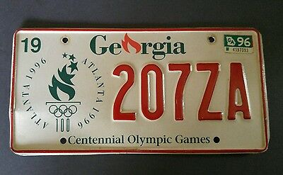 1996 Centennial Olympic license plate Georgia