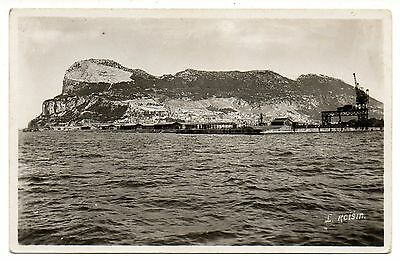 Gibraltar postcard, Coaling works for ships in port, No 191 c1940s Real Photo
