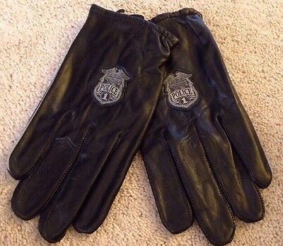 Harley Davidson Size Large Motorcycle Gloves Police 1 Premium Cabretta Leather