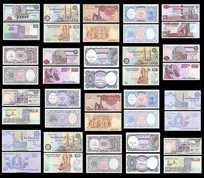 Egypt 5 Piastres - 50 Pounds All Mint UNC  *Multi Variation Listing*
