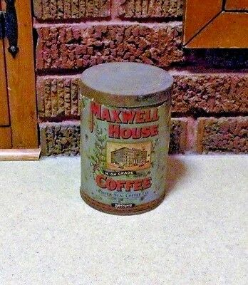 Vintage Maxwell House Collectable Coffee Can - Paper Label - 1921