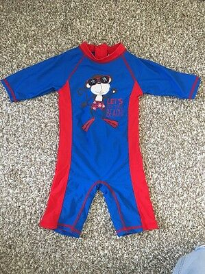 NEW Boys Swim / Beach Suit Size 2 Years, Blue And Red